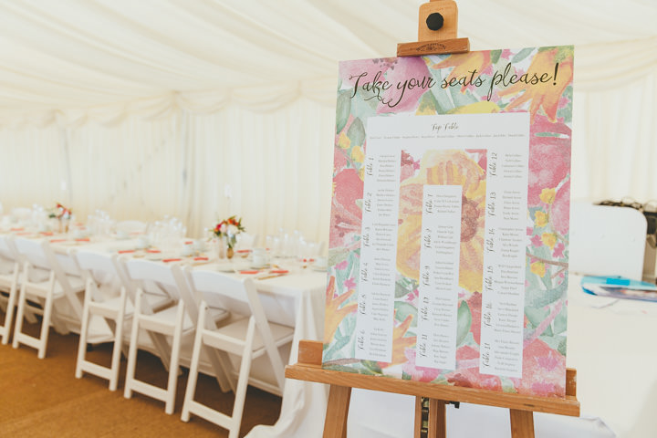 Bournemouth Beach Wedding Table Plan By Paul Underhill Photography