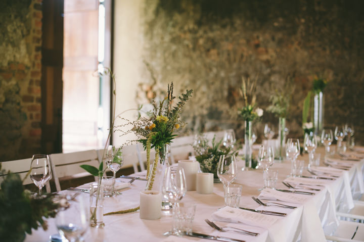 Natural South African Wedding reception setting