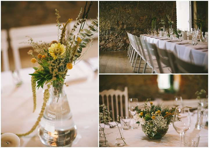 Natural South African Wedding reception details