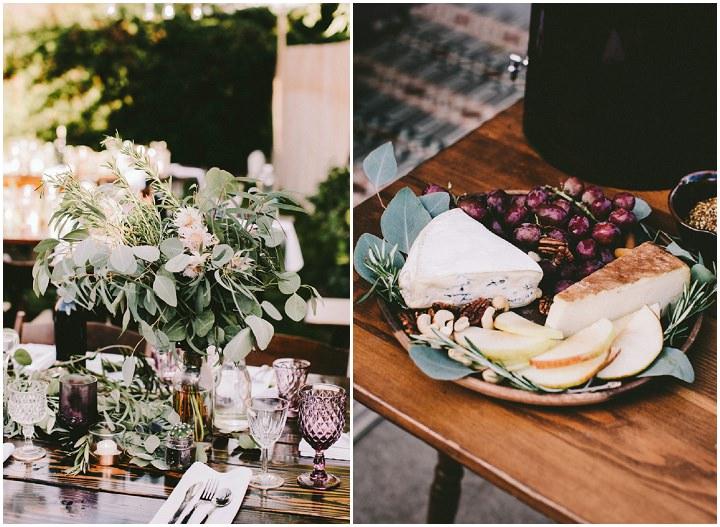 Bohemian Colorado Wedding food