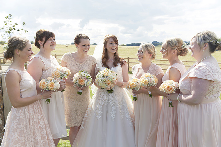 Barn Wedding At Dodford Manor In Northamptonshire Bridal Party