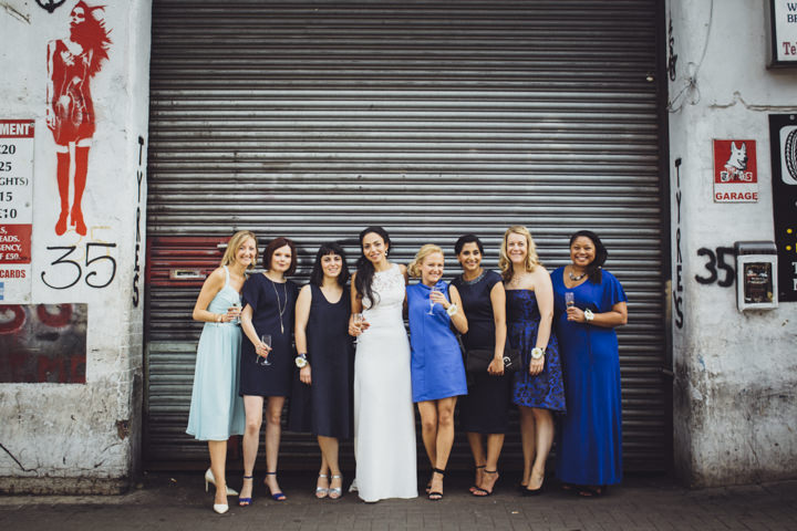 London Wedding bridal party at The Hoxton Arches By Tracey Hosey Photography