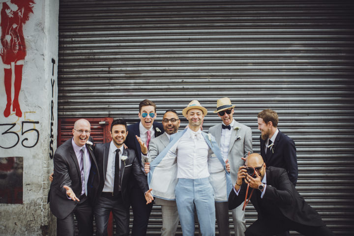 London Wedding groomsmen at The Hoxton Arches By Tracey Hosey Photography