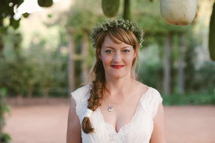 Natural South African Wedding bride