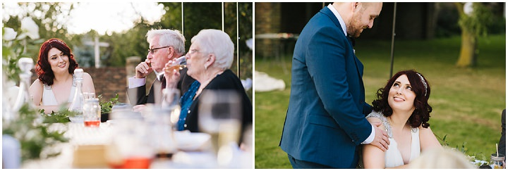 Louise and Sam's Gold and White Outdoors Wedding with an Evening Pool Party