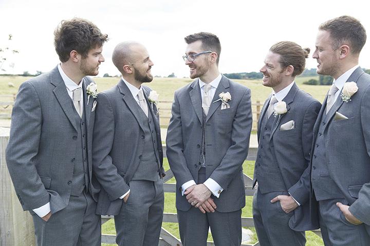 Barn Wedding at Dodford Manor in Northamptonshire groomsmen