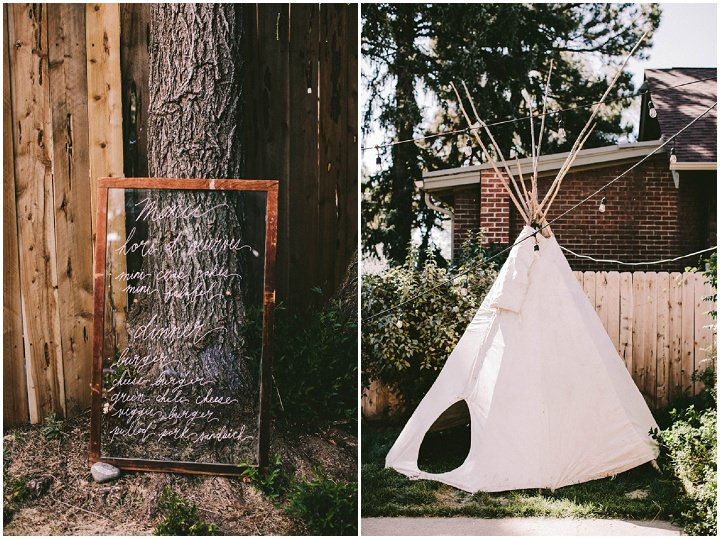 Bohemian Colorado Wedding tent