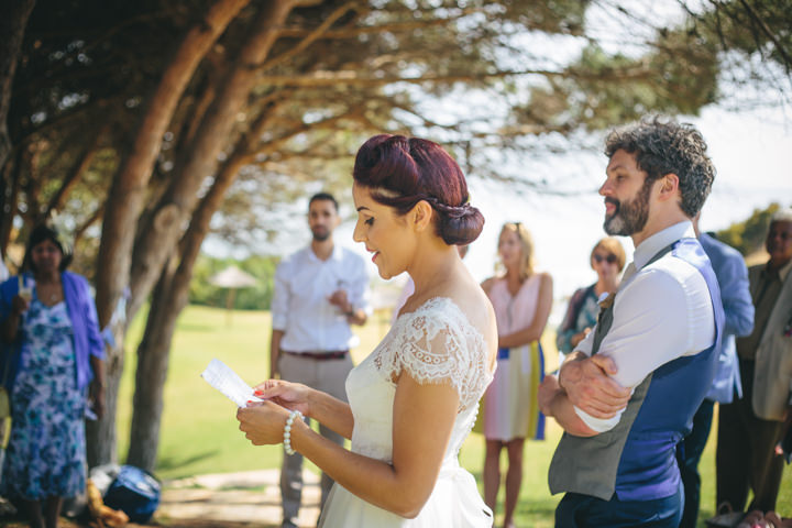 Algarve Wedding speeches By Ana Parker Photography