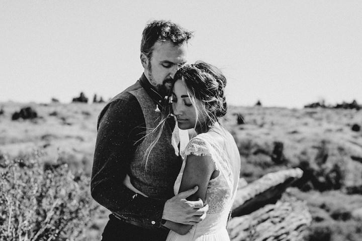 Bohemian Colorado Wedding couple just married