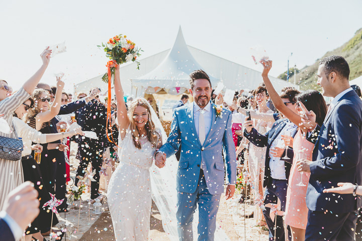Bournemouth Beach confetti Wedding By Paul Underhill Photography
