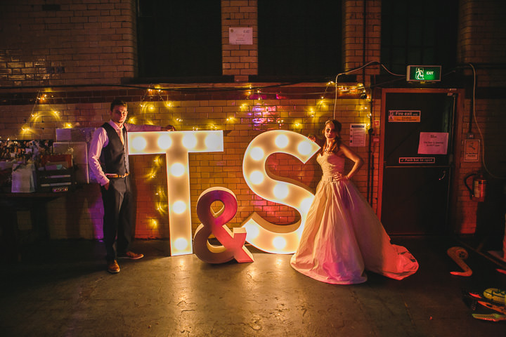 Kelham Island Museum Wedding big lights in Sheffield City Centre By Tierney Photography