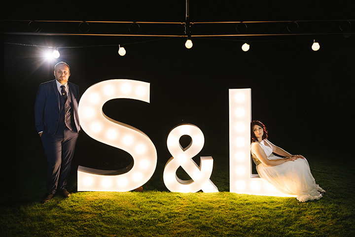 Louise and Sam's Gold and White Outdoors Wedding with an Evening Pool Party By Alex Miller Photography