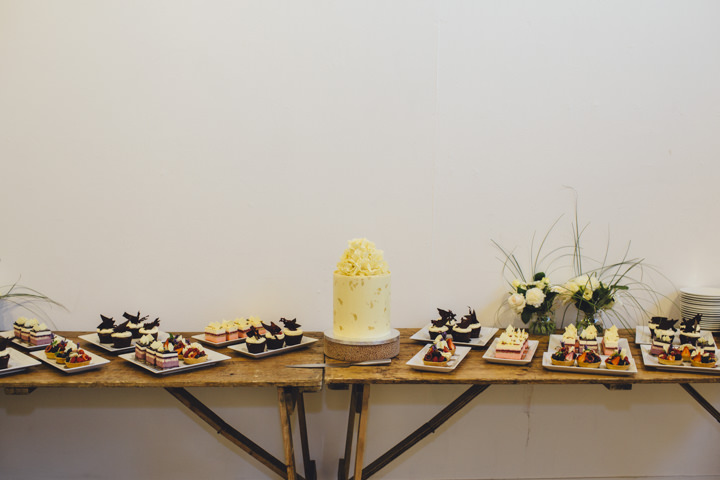London Wedding cake table at The Hoxton Arches By Tracey Hosey Photography
