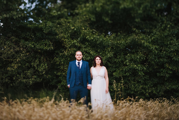 Louise and Sam's Gold and White Outdoors Wedding with an Evening Pool Party By Alex Miller