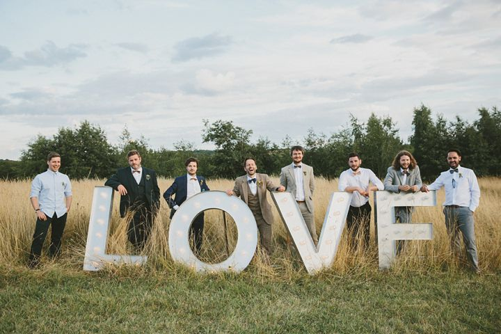 Woodland Wedding bridal party at the Clophill Centre