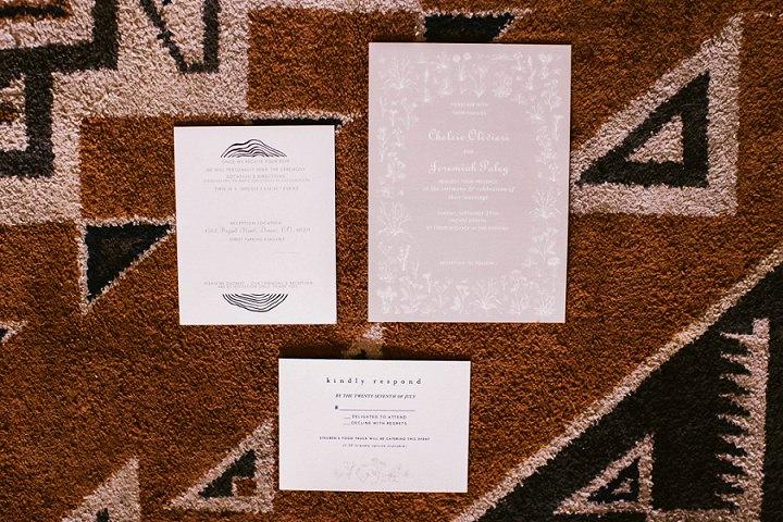 Bohemian Colorado Wedding invites