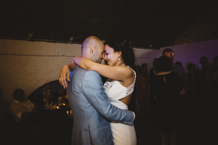 London Wedding first dance at The Hoxton Arches By Tracey Hosey Photography
