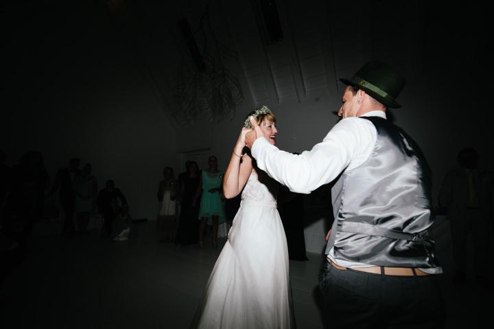 Natural South African Wedding dancing