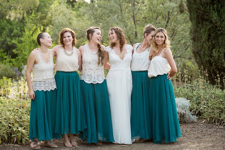 Bohemian California Wedding party By Images By Lori