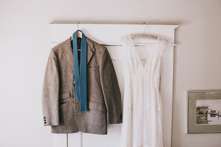 Bohemian Colorado Wedding suit and dress