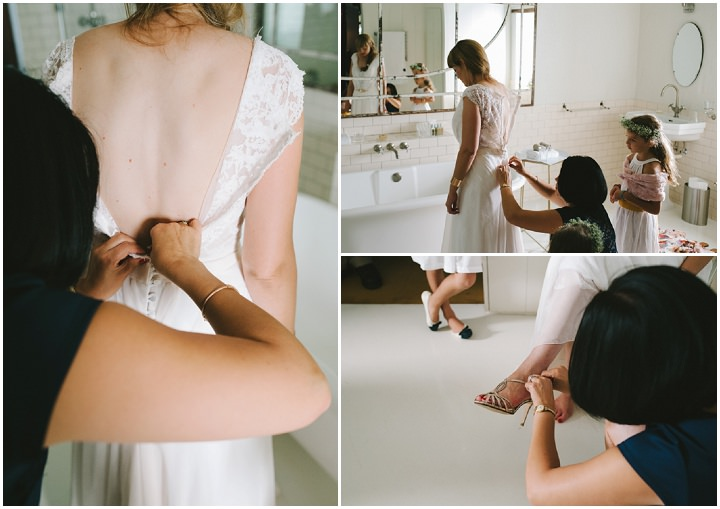 Natural South African Wedding bride getting ready