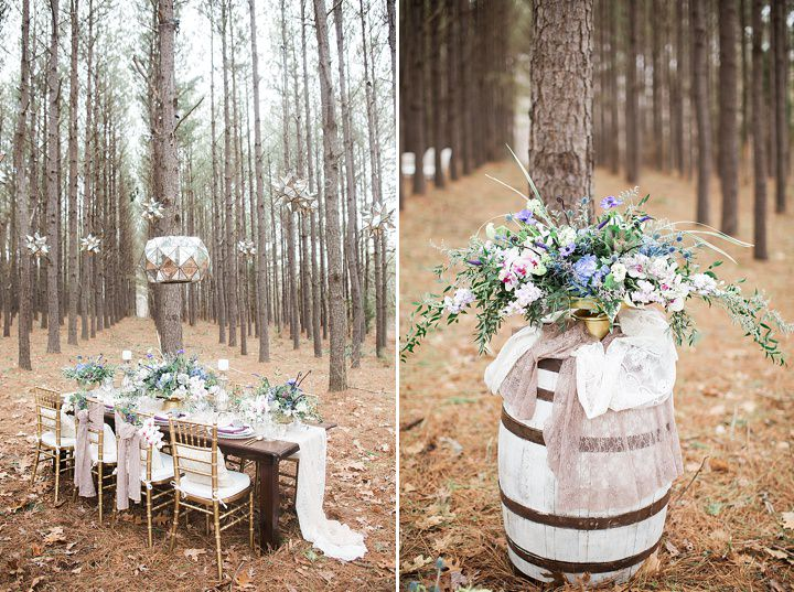 Outdoors Woodland Wedding Details Inspiration