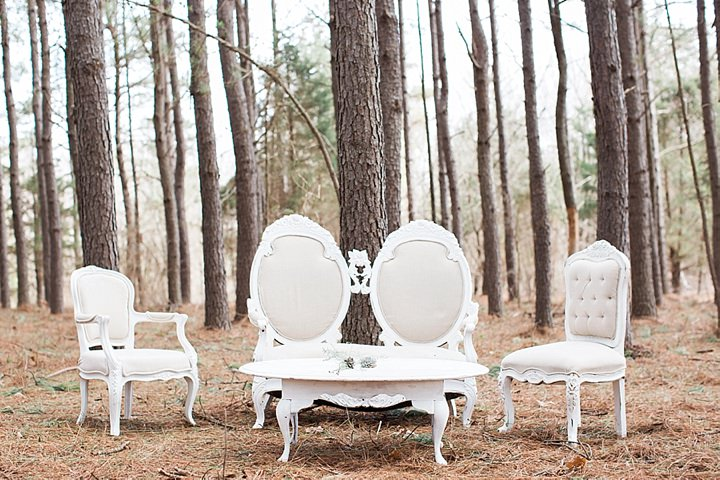 Outdoors Woodland chairs Wedding Inspiration