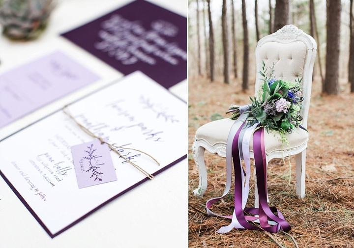 Outdoors Woodland stationery Wedding Inspiration