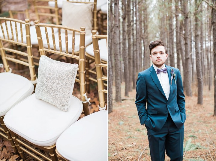 Outdoors Woodland Groom Wedding Inspiration