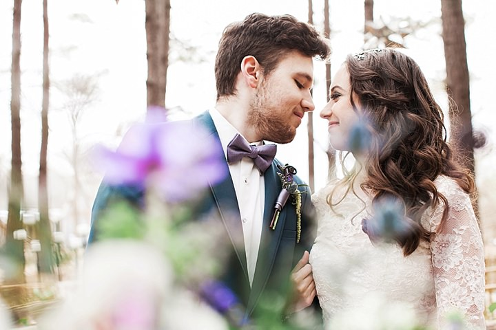 Outdoors Woodland couple in the woods Wedding Inspiration