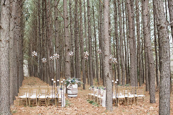 Outdoors Woodland Wedding Chairs Inspiration