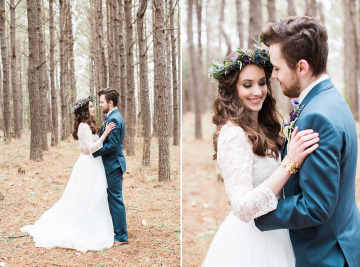 Outdoors Woodland Couple Wedding Inspiration