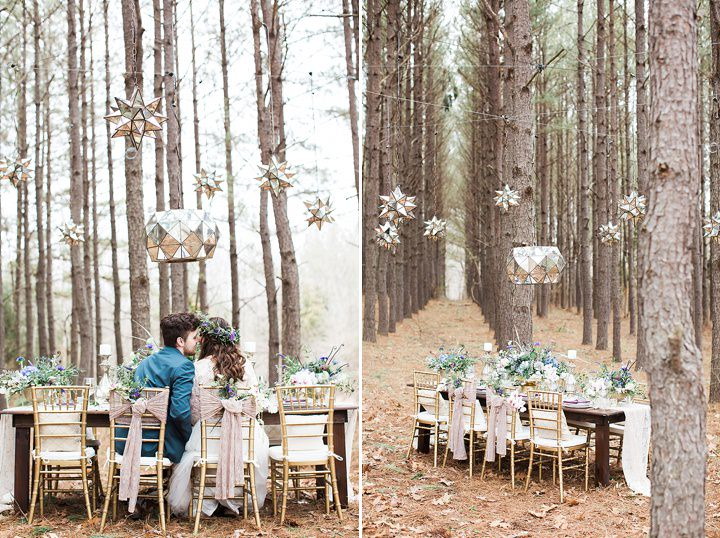 Outdoors Woodland Couple in love Wedding Inspiration