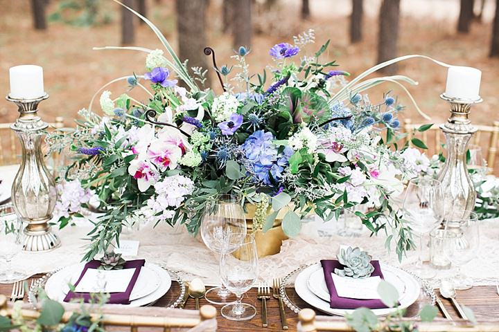 Outdoors Woodland Table Decoration Wedding Inspiration