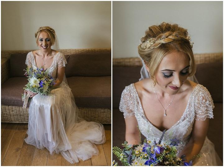 Homespun Ashes Barns Wedding beautiful bride By YU Photography