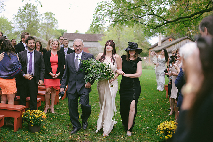 Music Filled Canadian Wedding brides arrival By Megan Ewing Creative