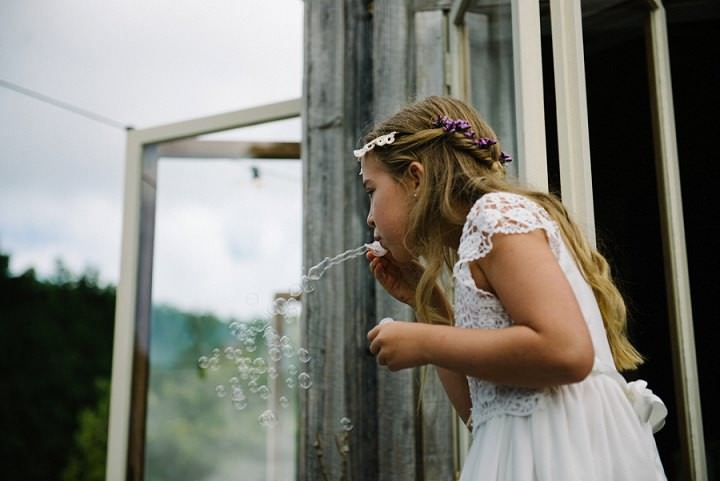 Bohemain New Zealand flower girl Beach Wedding By Vignoto Photo