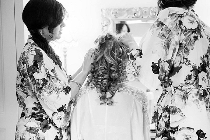 Hertfordshire Wedding bride getting ready at Brocket Hall By Fiona Kelly