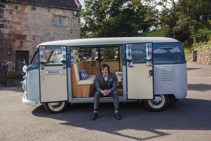 Homespun Ashes Barns Wedding Campervan By YU Photography