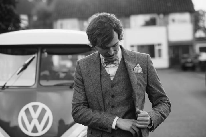 Homespun Ashes Barns groom Wedding By YU Photography