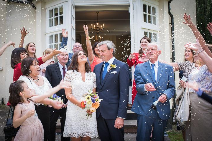 Homespun Wedding confetti at Frithsden Vineyard