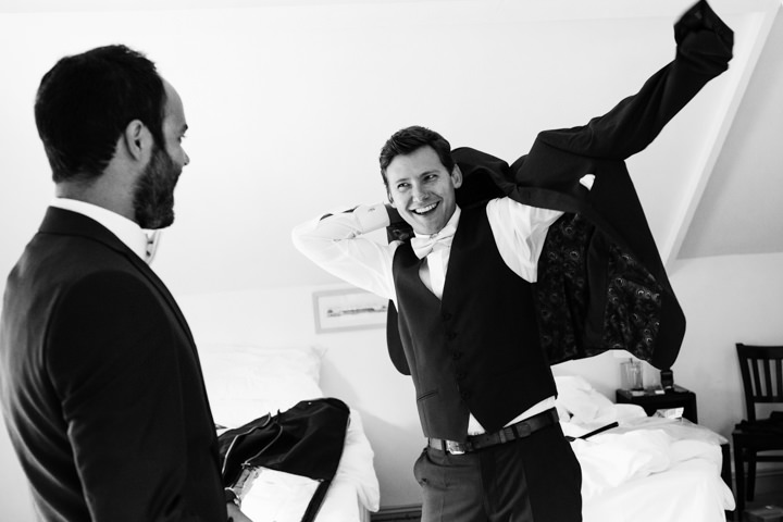 Somerset Wedding groom getting ready at Widcombe Grange By Raw Silk Photography