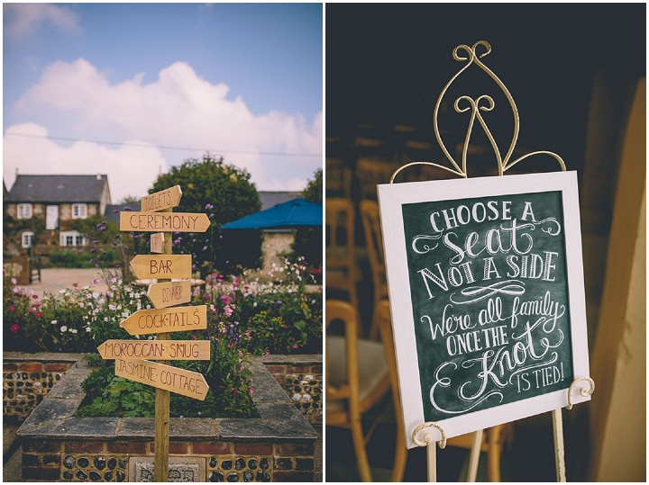 Upwaltham Barns Wedding signs in West Sussex By Story and Colour