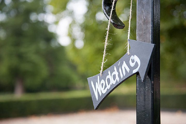 Hertfordshire Wedding sign at Brocket Hall By Fiona Kelly