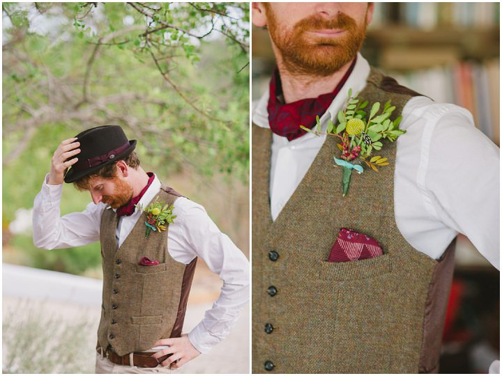 Homespun Algarve button hole Wedding By Piteira Photography