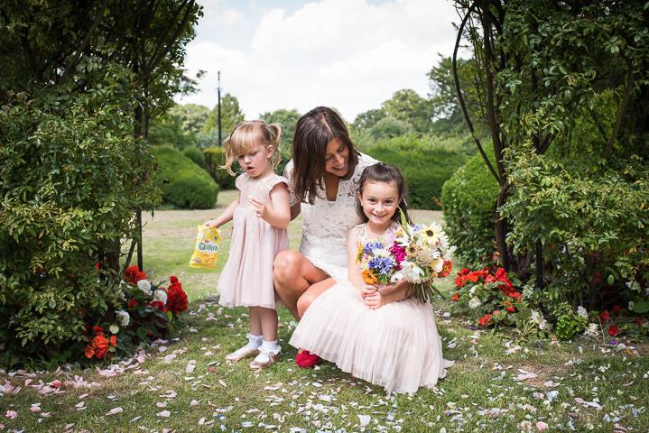 Homespun kids at weddings Wedding at Frithsden Vineyard