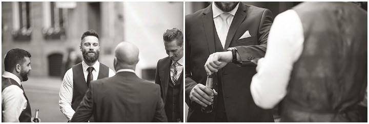 Modern London Wedding groomsmen By Chris Blackledge Photography