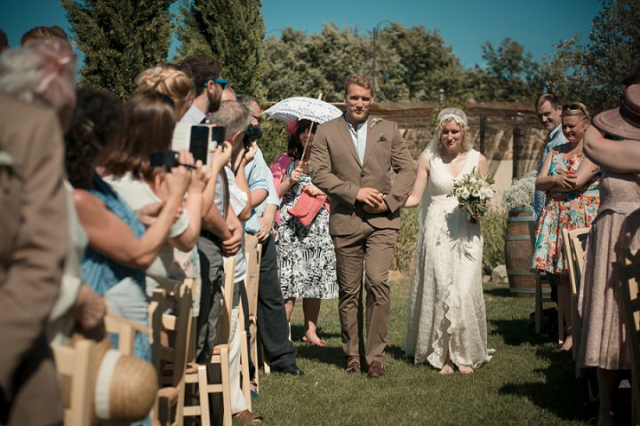 Tuscany Wedding outdoor ceremony By David Bastianoni Photography