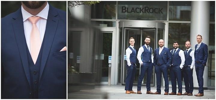 Modern London groomsmen Wedding By Chris Blackledge Photography