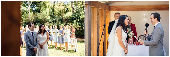 Wedding at Kilminorth Cottages vows in Looe By Freckle Photography